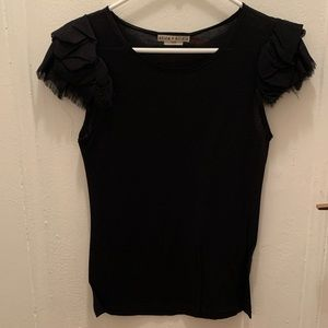 Alice & Olivia Base Black Blouse